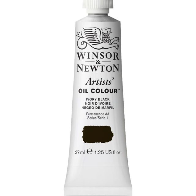 Image of Artists' Oil Colour - Ivory Black, 37ml