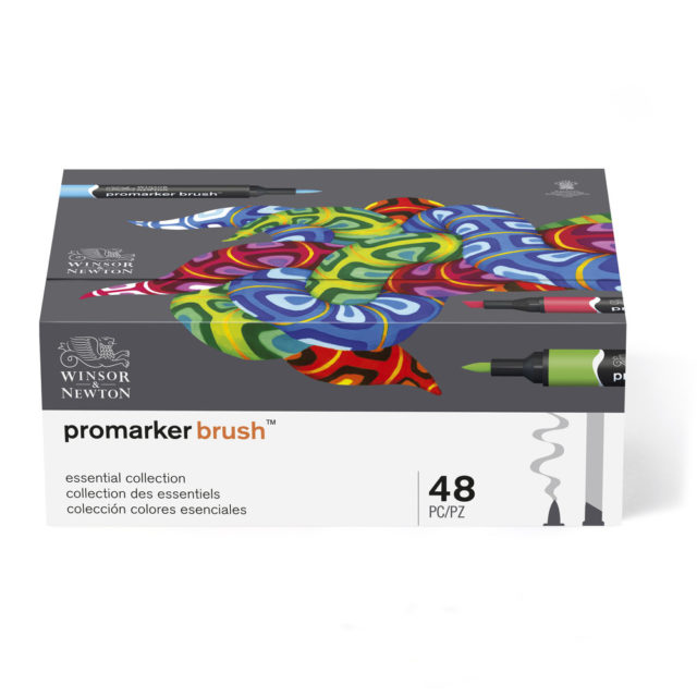 Image of Promarker Brush Set - Winsor & Newton Promarker Brush 48 Essential Collection, Set