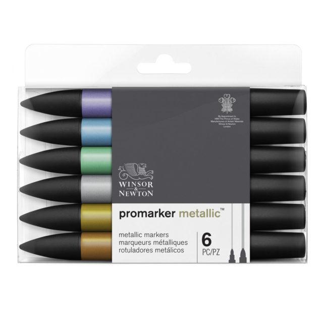 Image of Promarker Metallic Set - Winsor & Newton Promarker Metallic 6 Set, Set