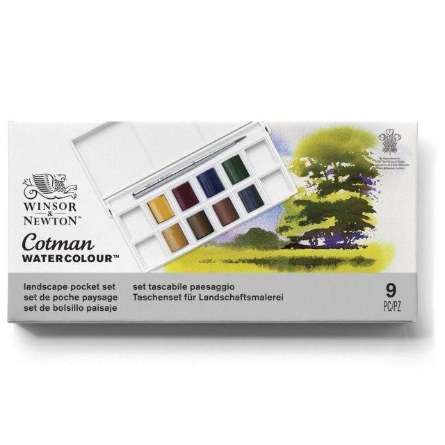 Image of Winsor & Newton Cotman Watercolour Landscape Pocket Set