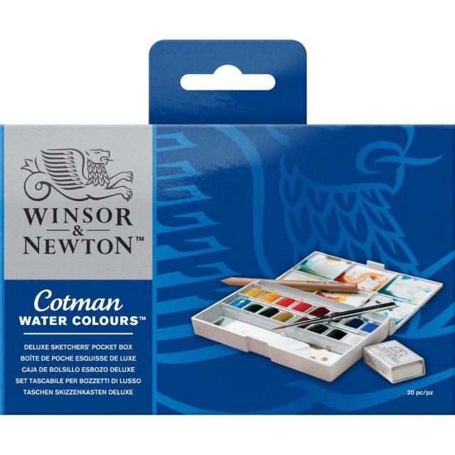 Image of Winsor & Newton Cotman Watercolours Deluxe Sketchers' Pocket Box