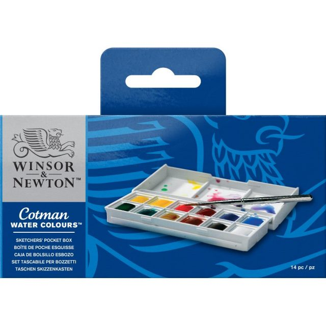 Image of Winsor & Newton Cotman Watercolours Sketchers' Pocket Box