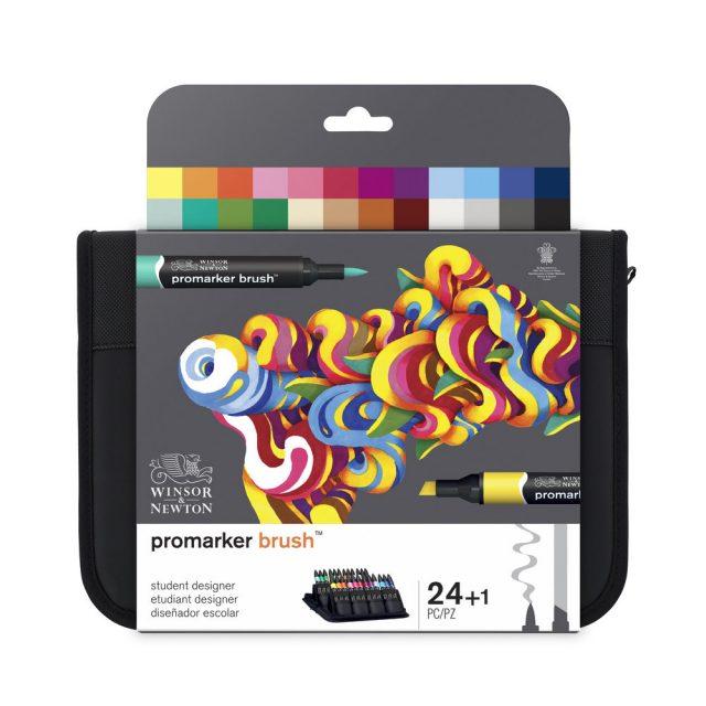 Image of Promarker Brush Set - Winsor & Newton Promarker Brush 24 Student Designer, Set