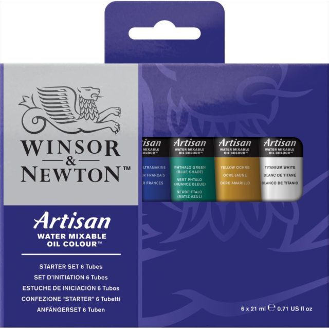 Image of Winsor & Newton Artisan Water Mixable Oil Colour Beginners Set - 6x21ml Tubes