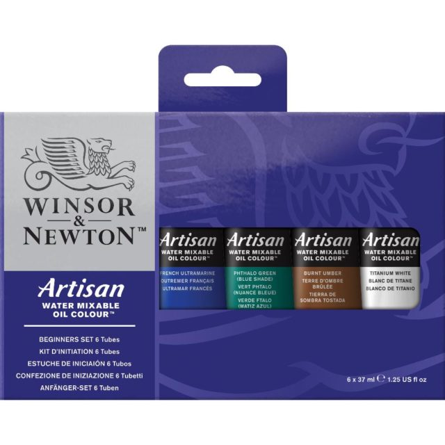 Image of Winsor & Newton Artisan Water Mixable Oil Colour Beginners Set - 6x37ml Tubes