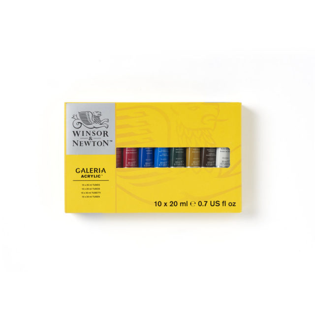Image of Winsor & Newton Galeria Acrylic Galeria 10x20ml Tube Set