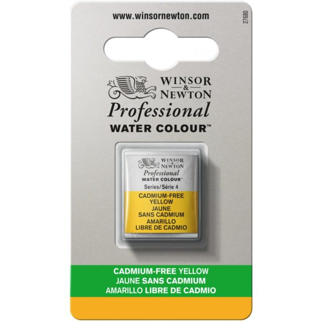 Image of Professional Watercolour - Cadmium-Free Yellow, Half Pan