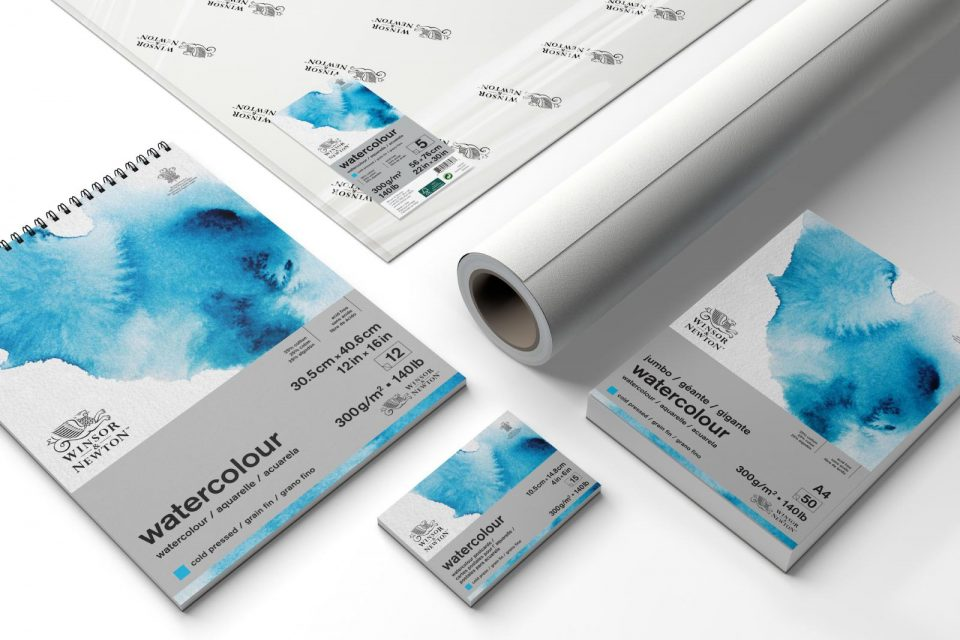 Sizing watercolour paper
