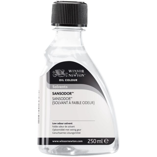Image of Solvents - Winsor & Newton Oil Colour Solvent, Sansodor (Low Odour Solvent), 250ml