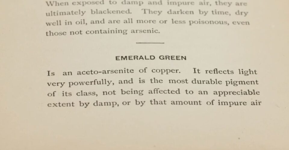 A page description of Emerald Green