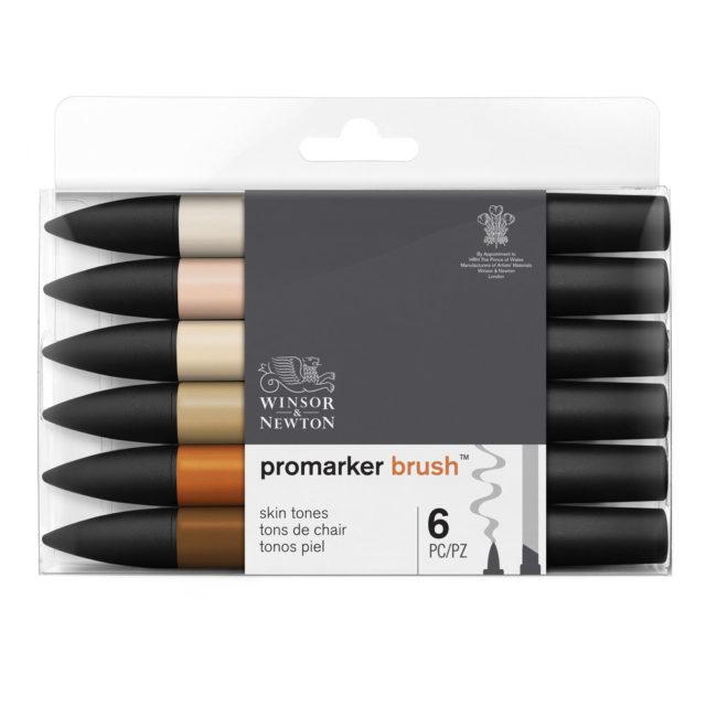 Image of Promarker Brush Set - Winsor & Newton Promarker Brush 6 Skin Tones, Set