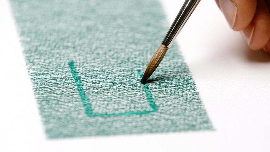 Blending watercolour pencils