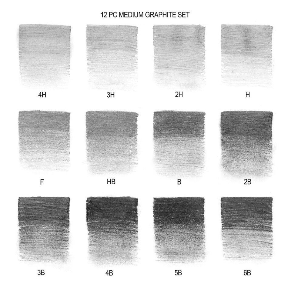 Graphite Pencils tones