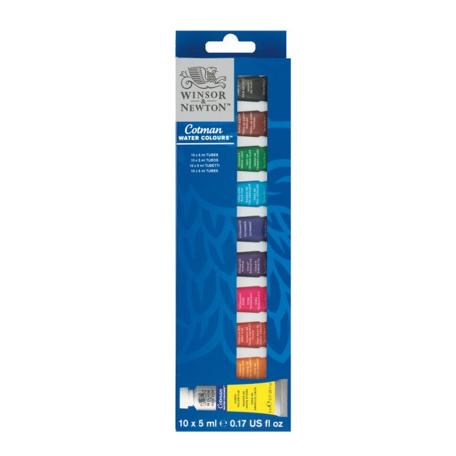 Image of Winsor & Newton Cotman Watercolour Set 10x5ml