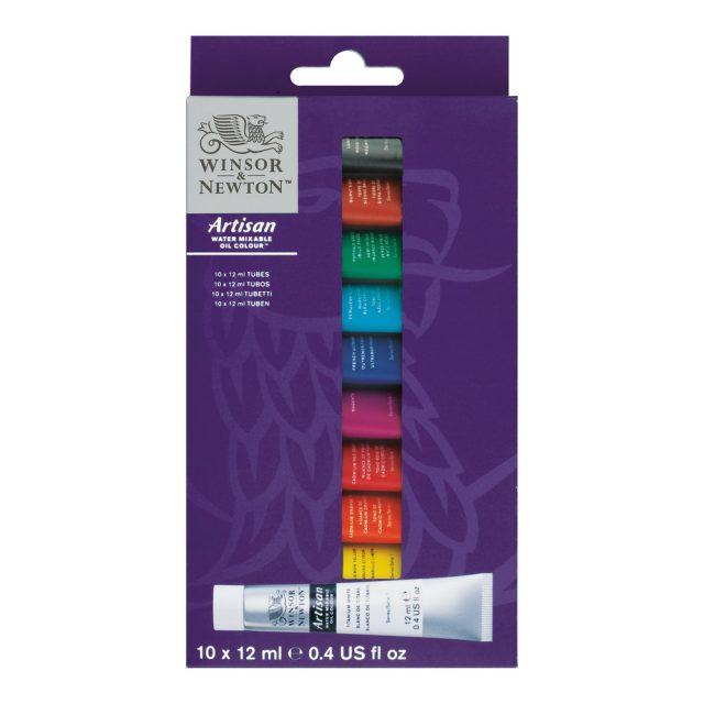 Image of Winsor & Newton Artisan Water Mixable Oil Colour Set 10x12ml