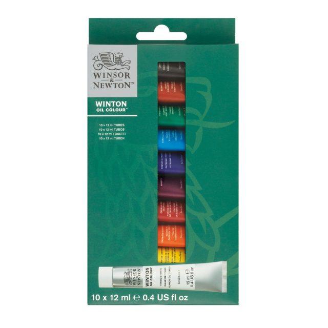 Image of Winsor & Newton Winton Oil Colour Set 10x12ml