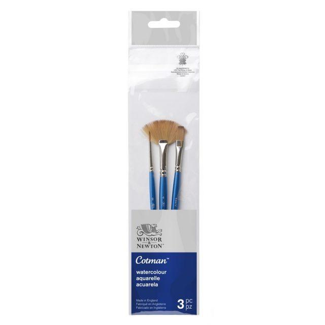 Image of Winsor & Newton Cotman Brush Short Handle Pack of 3 - Set 3