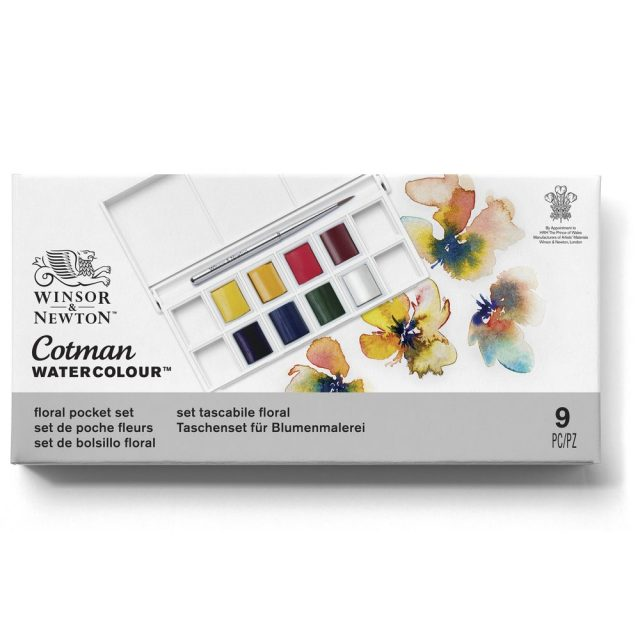Image of Winsor & Newton Cotman Watercolour Floral Pocket Set