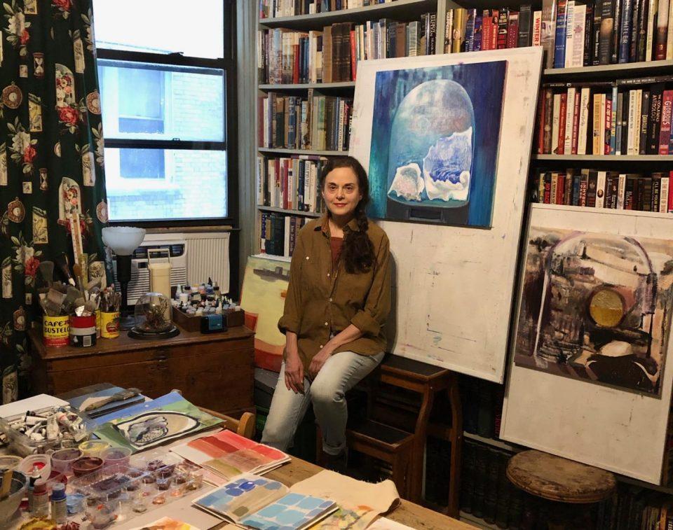 Kyle in her studio. Photo credit: EM Turner