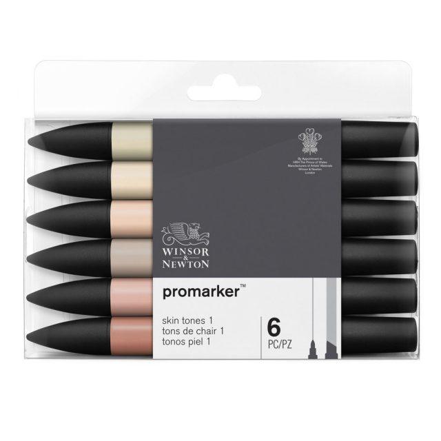Image of Promarker Set - Winsor & Newton Promarker 6 Skin Tones Set 1, Set