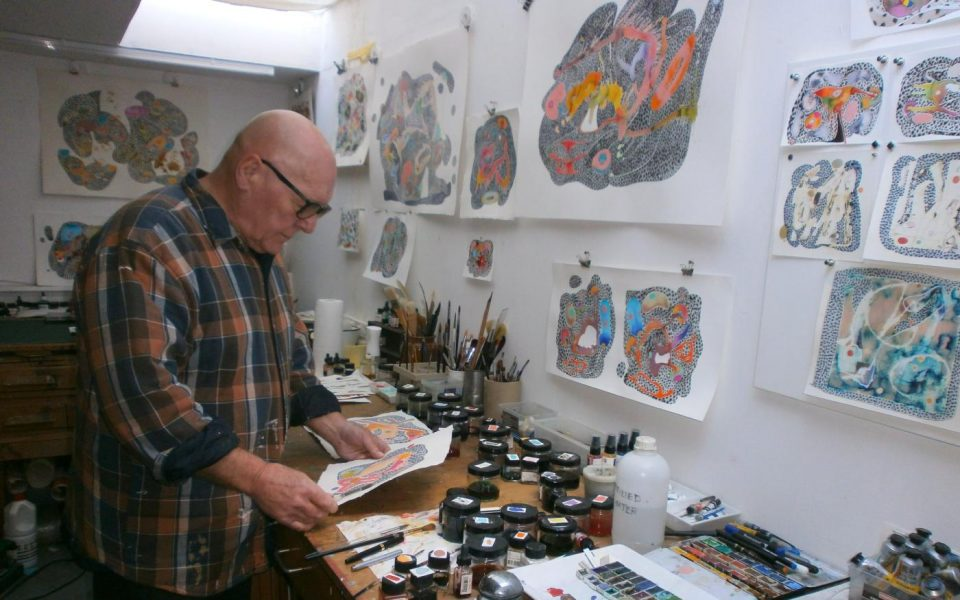 David Taborn in his studio