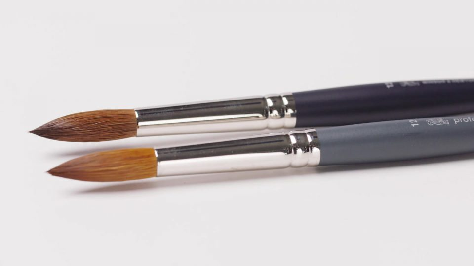 Professional Watercolour Synthetic Sable Brushes